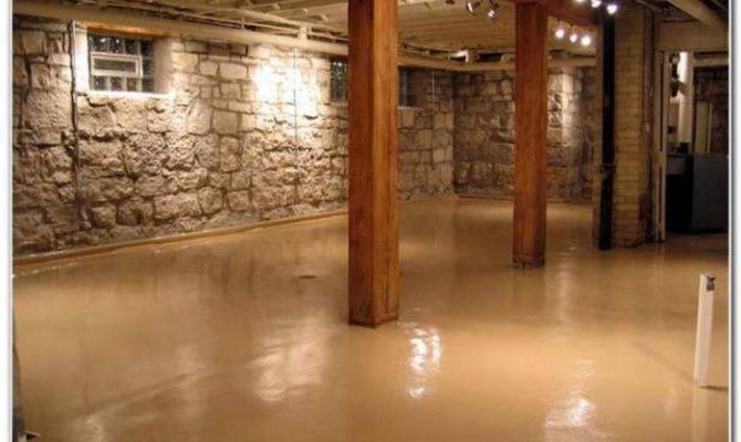 Painting Concrete Basement Floors Ideas Flooring
