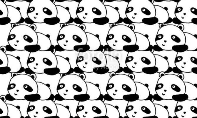 Panda Seamless Pattern Stockfotos Lizenzfreie