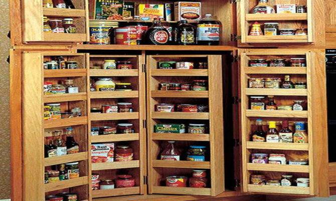 Pantry Plan Standing Cabinet Kitchen Tall