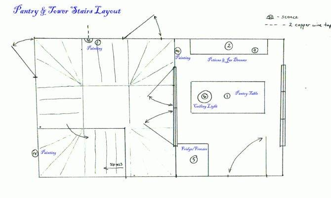 Pantry Tower Stairs Layout