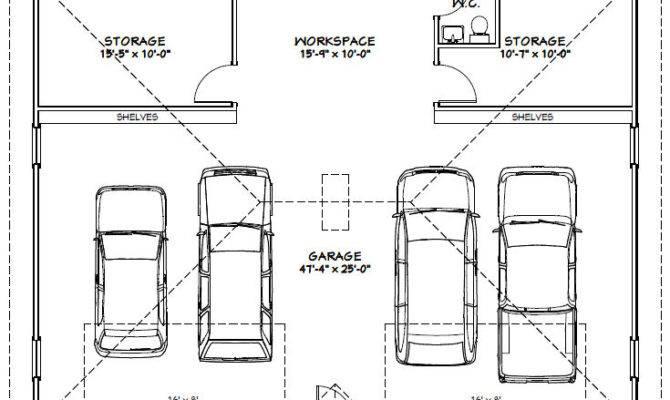 16 Delightful 24x36 Garage Plans House Plans