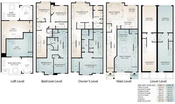 Parkview Townhomes Floor Plans Conshohocken Prdc