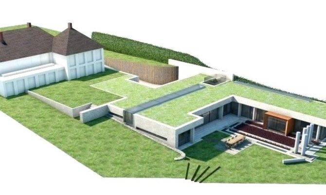 Partially Underground House Plans Plan