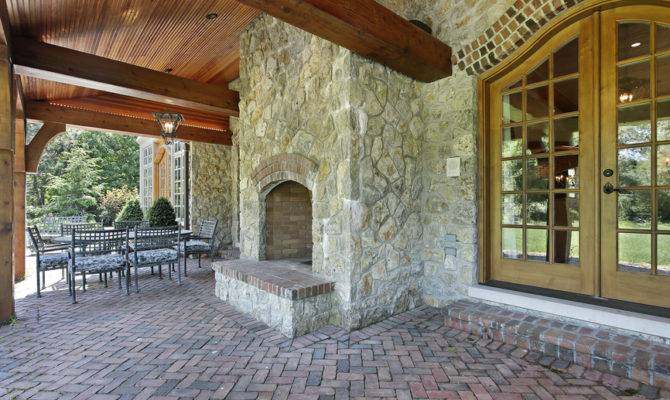 Patio Fireplaces Creating Outdoor Living Room Spaces