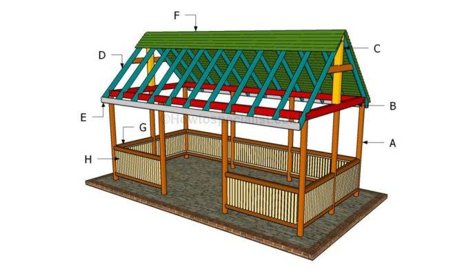 Pavilion Howtospecialist Build Step Diy Plans