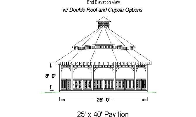 Pavilion Pavilions Sided Building Plans Material List Double