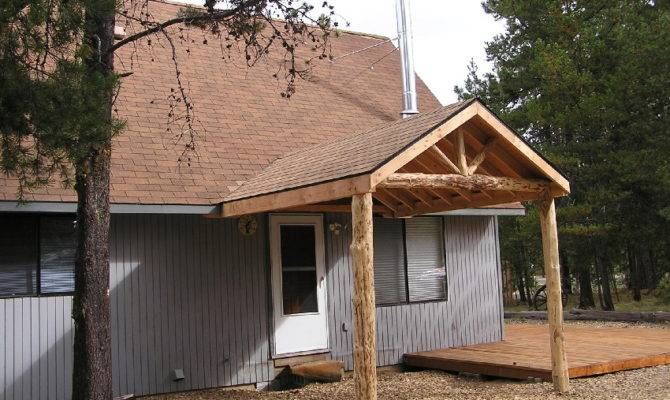 Peeled Log Porch After