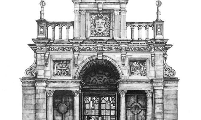 Pencil Drawing Photorealistic Architectural