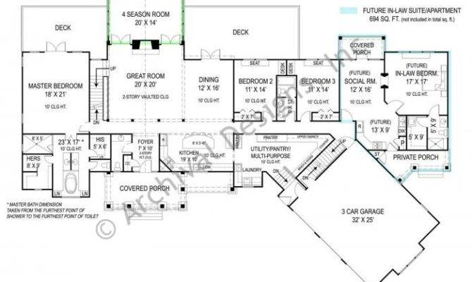 Pepperwood House Plan Law Quarters Need Library