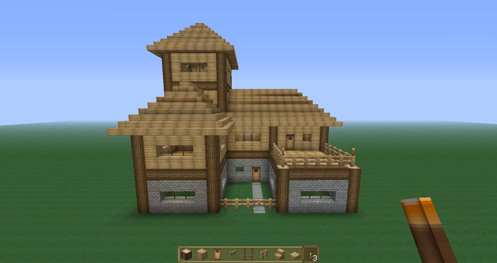 Perfect Minecraft Survival House Tutorial Youtube House Plans 53101