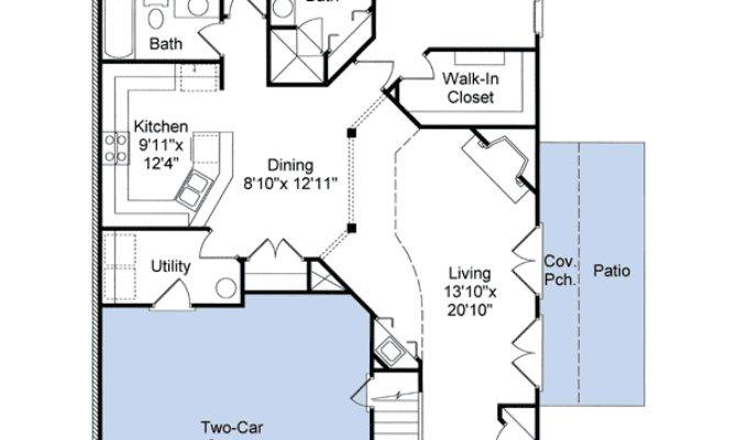 Perfect Narrow Lot Plan Architectural Designs