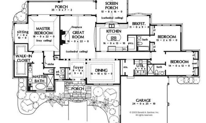 Perfect One Story House Plan Huge Master Bedroom Sitting