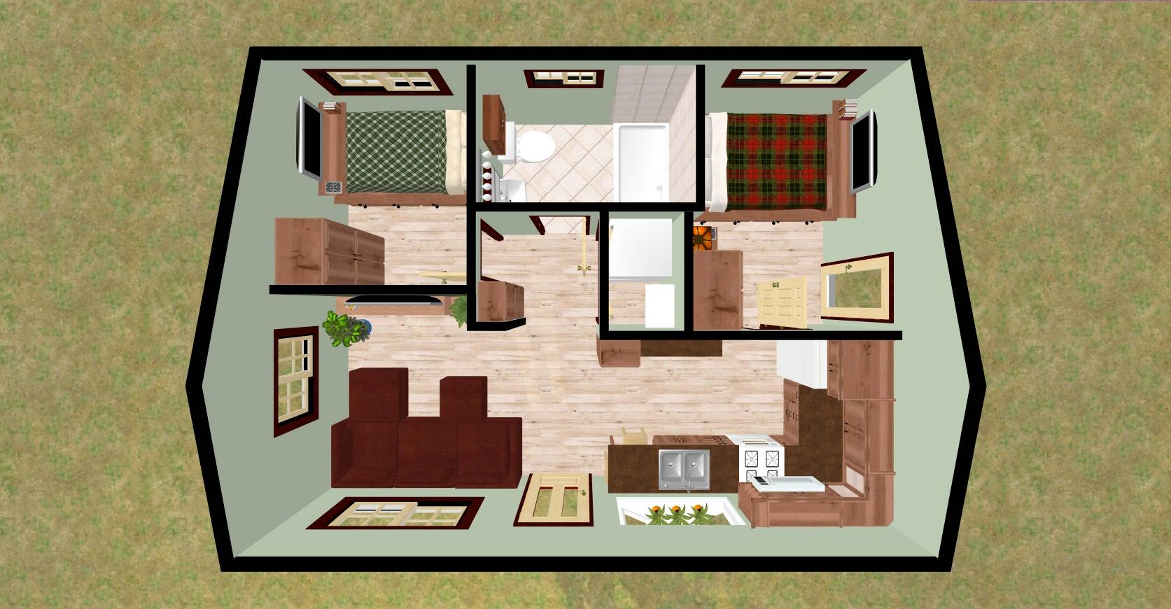 21 2 Bedroom Contemporary House Plans Ideas House Plans