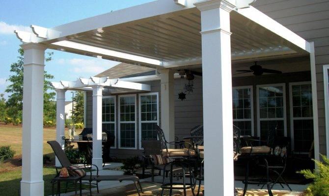 Pergola Carports Patio Roofing Designs Gable Roof Second Sun