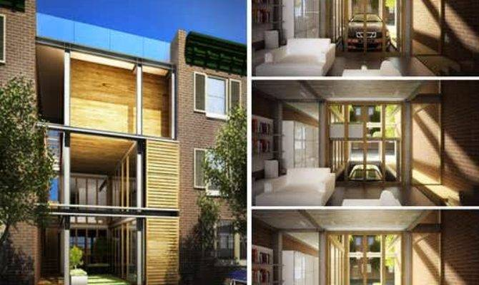 Philadelphia Modern Multi Tiered Townhouse Design