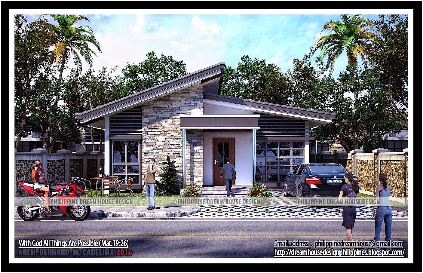Philippine Dream House Design Two Bedroom Bungalow House Plans 86363