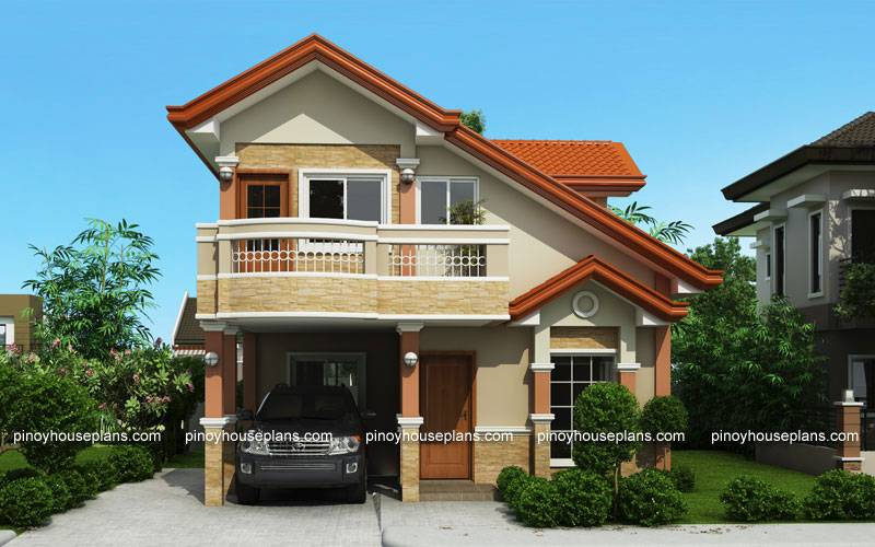 Php Two Storey House Plan Balcony Pinoy - House Plans ...
