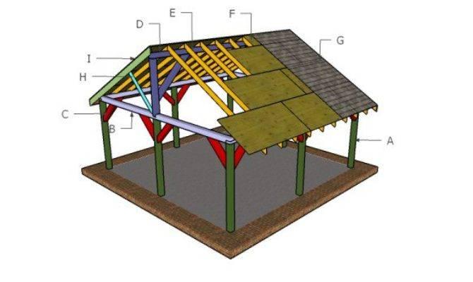 Picnic Shelter Roof Plans Myoutdoorplans