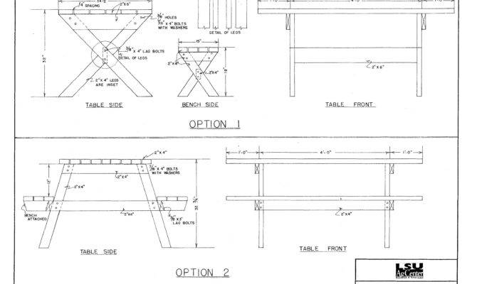 Picnic Table Plans Pdf