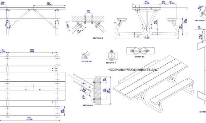 Picnic Table Plans House 31524