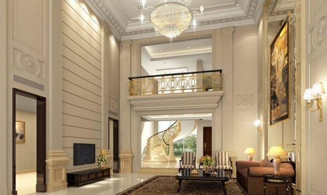 Pics Photos Luxury Villa Living Room Design Layout House