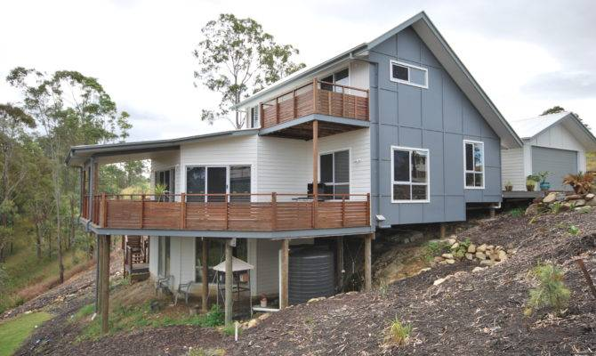Picturesque Beautiful Sloping Sites Pole Home Designs