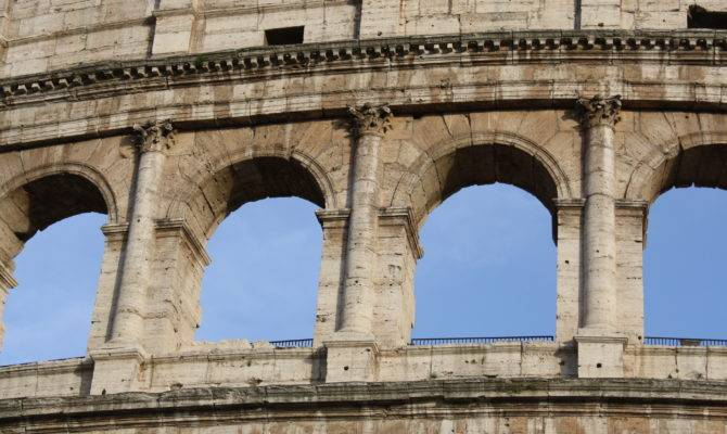 Pilaster Columns Colosseum Rome Completed