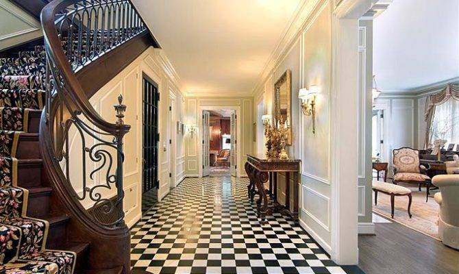 Pin French Country Renovation Foyer Stairs Cou