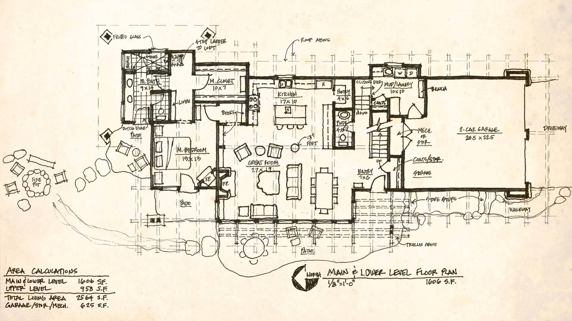 Pin Modern Cabin Floor Plans Plan Pinterest House Plans 47896