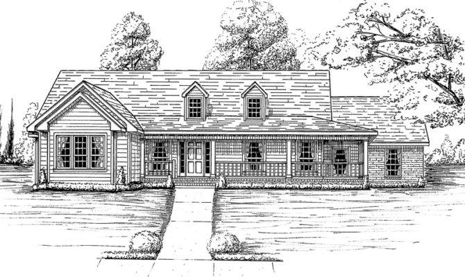 Pinckney Southern Ranch Home Plan House Plans More