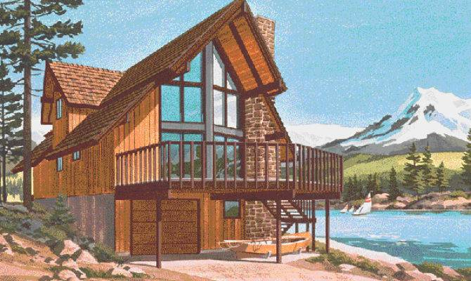 Pine Peak Rustic Frame Home Plan House Plans