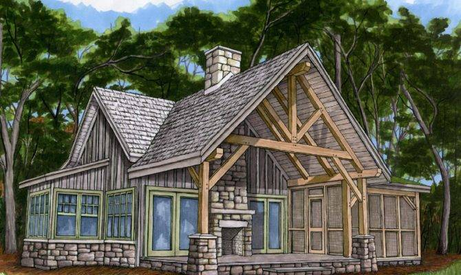 Piney Creek Cottage Timber Frame