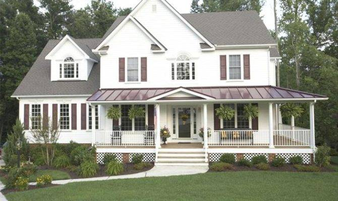 25 Decorative Wrap Around Porch Designs House Plans