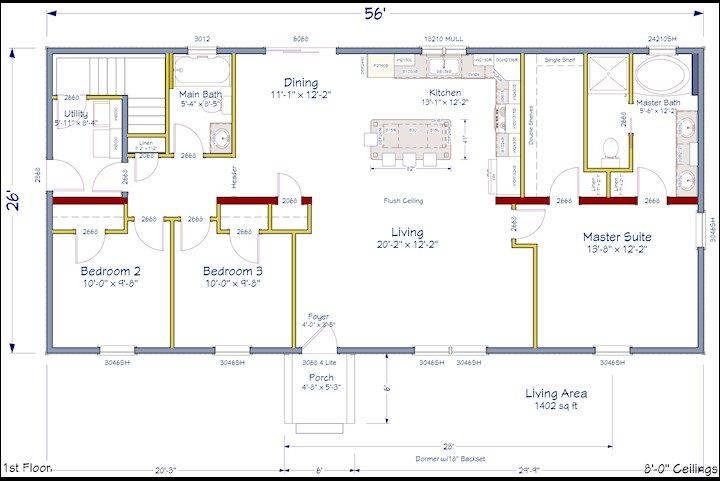 Pinterest Open Concept Floor Plans House Plans 59778