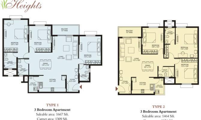 Plama Heights Floor Plan Hennur Main Road Apartments Bangalore
