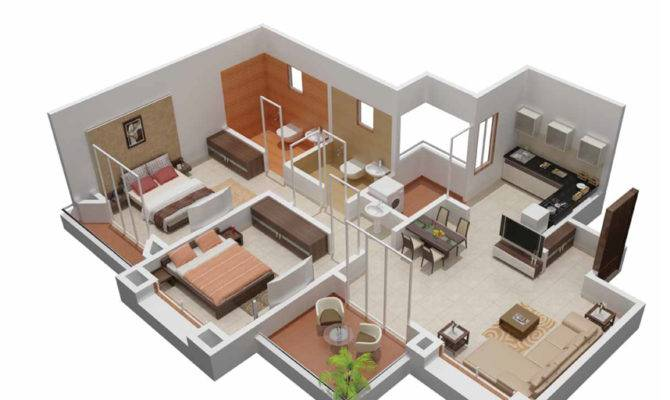 Plan Bhk Bungalow Joy Studio Design