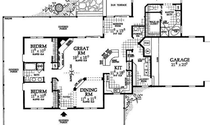 Plan Corner Lot Farmhouse Country House Plans