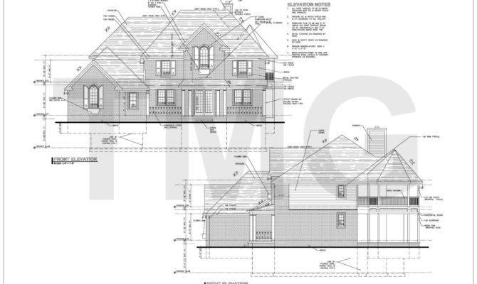 Plan Elevation Drawing Sketch