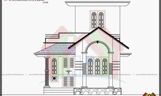 Plan First Floor Two Bedroom Kerala House Square Feet