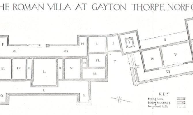 Plan Gayton Thorpe Roman Villa Nen