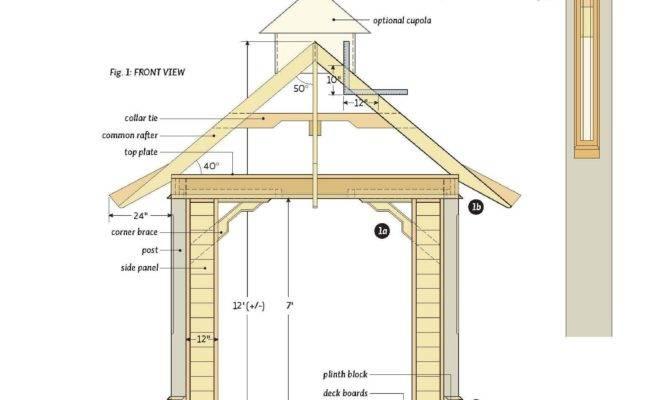 Plan Gazebo Garden Shed Plans Roof Designs