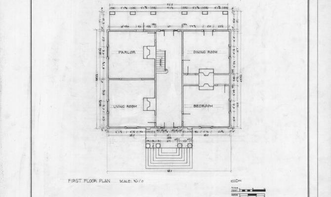Plan Lewis Smith House Raleigh North Carolina