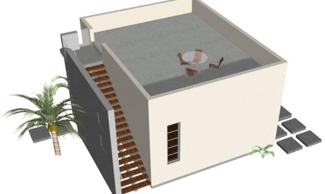 Plan Modern Casita House One Bedroom Studio Guest