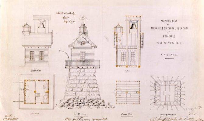 Plan Musselbed Shoals Lighthouse