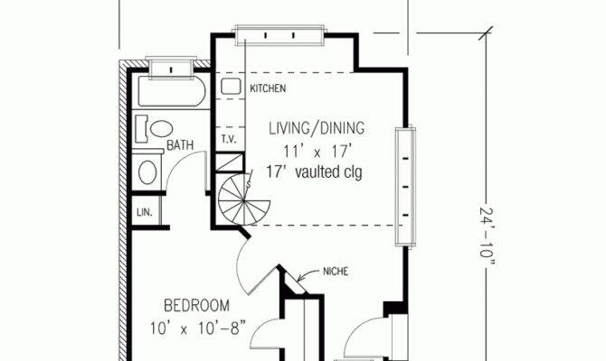 Plan One Bedroom English Cottage Square Feet