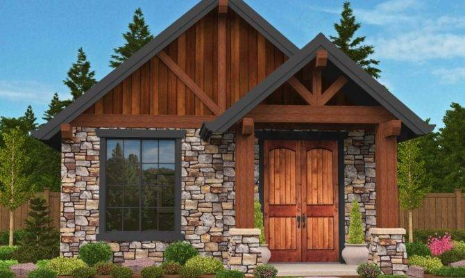 Plan Rustic Guest Cottage Vacation Getaway