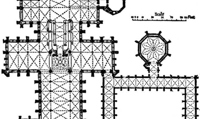 Plan Salisbury Cathedral Clipart Etc