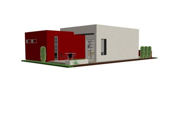 Plan Small House Modern Guest