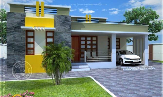 Plan Small Modern Villa Kerala Home Design Floor Plans
