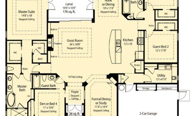 Plan Spacious Open Floor Architectural